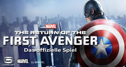 "Gameloft bietet ""The Return Of The First Avenger – Das offizielle Spiel"" erstmals kostenlos an"
