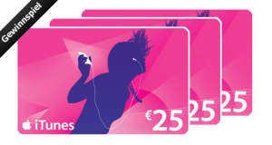 Gewinnspiel: wir verlosen 3 iTunes-Gutscheine im Wert von je 25€ (letzte Chance)