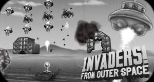 """Invaders! From Outer Space"" neu im AppStore: humorvoller ""Space Invaders""-Klon im Schwarz-Weiß-Look"