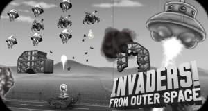 """Invaders! From Outer Space"" neu im AppStore: humorvoller ""Space Invaders""-Klon im Schwarz-Weiß-Look"