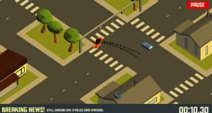 Pako – Car Chase Simulator: die erhofft endlose, in Realität aber nur wenige Sekunden dauernde Flucht vor der Polizei