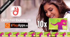 Gewinnspiel: wir verlosen zusammen mit Gutscheinbunny.de 10 iTunes-Gutscheine im Gesamtwert von 150€ (Update: die Gewinner)