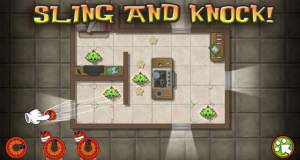 Lucha Amigos: ein witziges Slingshot-Puzzle