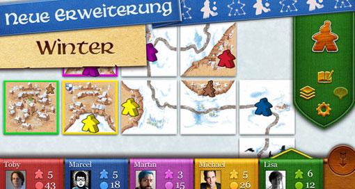 """Winter-Update für """"Carcassonne"""" jetzt erhältlich"""
