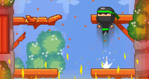 "Ninja Escape: wie ""Timberman"", nur mit Ninjas & Feuer"