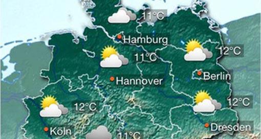 """Kostenlose iPhone-App """"wetter.info"""" informiert übers aktuelle & zukünftige Wetter"""