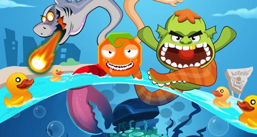"Verrücktes Defense-Game ""Oczilla – The Mutant Octopus"" gratis laden"