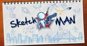 """Endless-Runner """"Sketchman"""" von Ketchapp: rennen, springen und schießen auf dem Zeichenblock"""