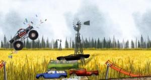 """Es geht bergab – aber mit Vollgas: Djinnworks veröffentlicht """"Stickman Downhill – Monster Truck"""""""