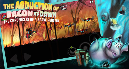 "Verrückter Action-Plattformer ""The Abduction of Bacon at Dawn, the Chronicles of a Brave Rooster"" neu im AppStore"