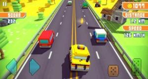 Blocky Highway: endlose Raserei über einen viel befahrenen Klötzchen-Highway