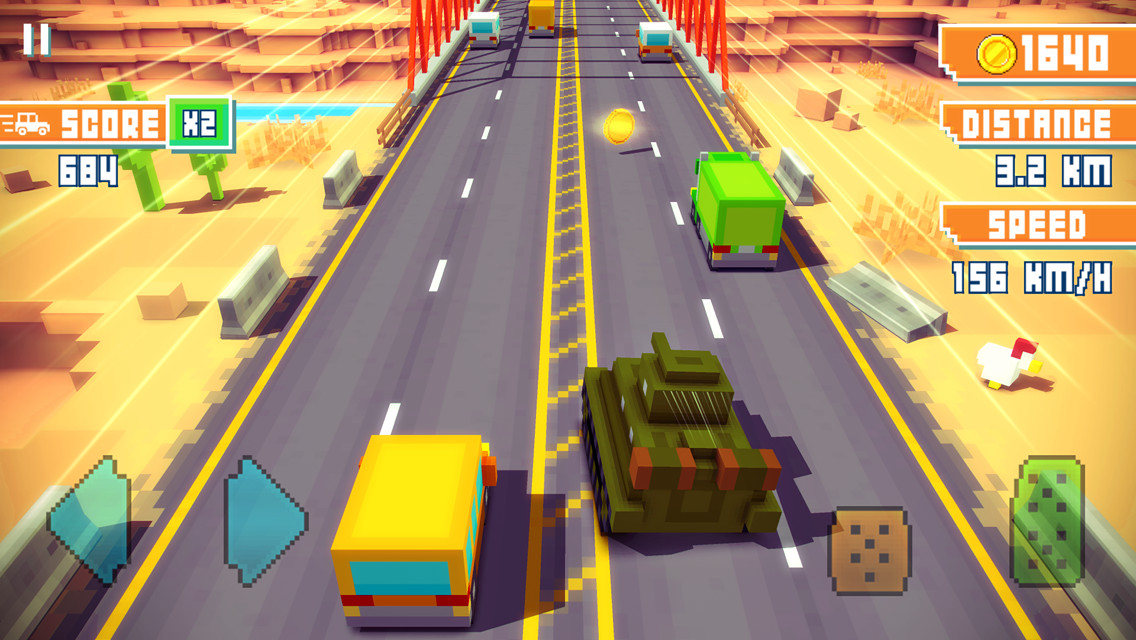Blocky Highway iPhone iPad