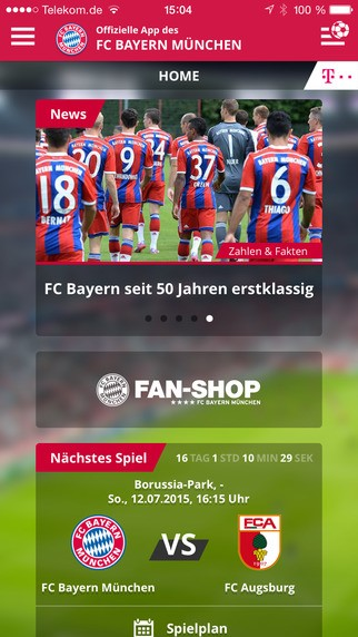 FCB App iPhone iPad
