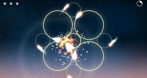 Zirkel: tolles Puzzle spielt mit Augenmaß, Timing und Feuer