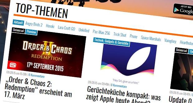 iPlayApps.de erstrahlt in etwas verändertem Design