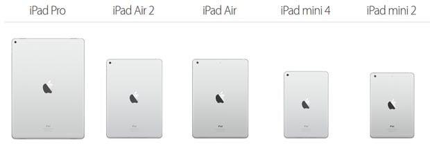 iPad Pro Größenvergleich