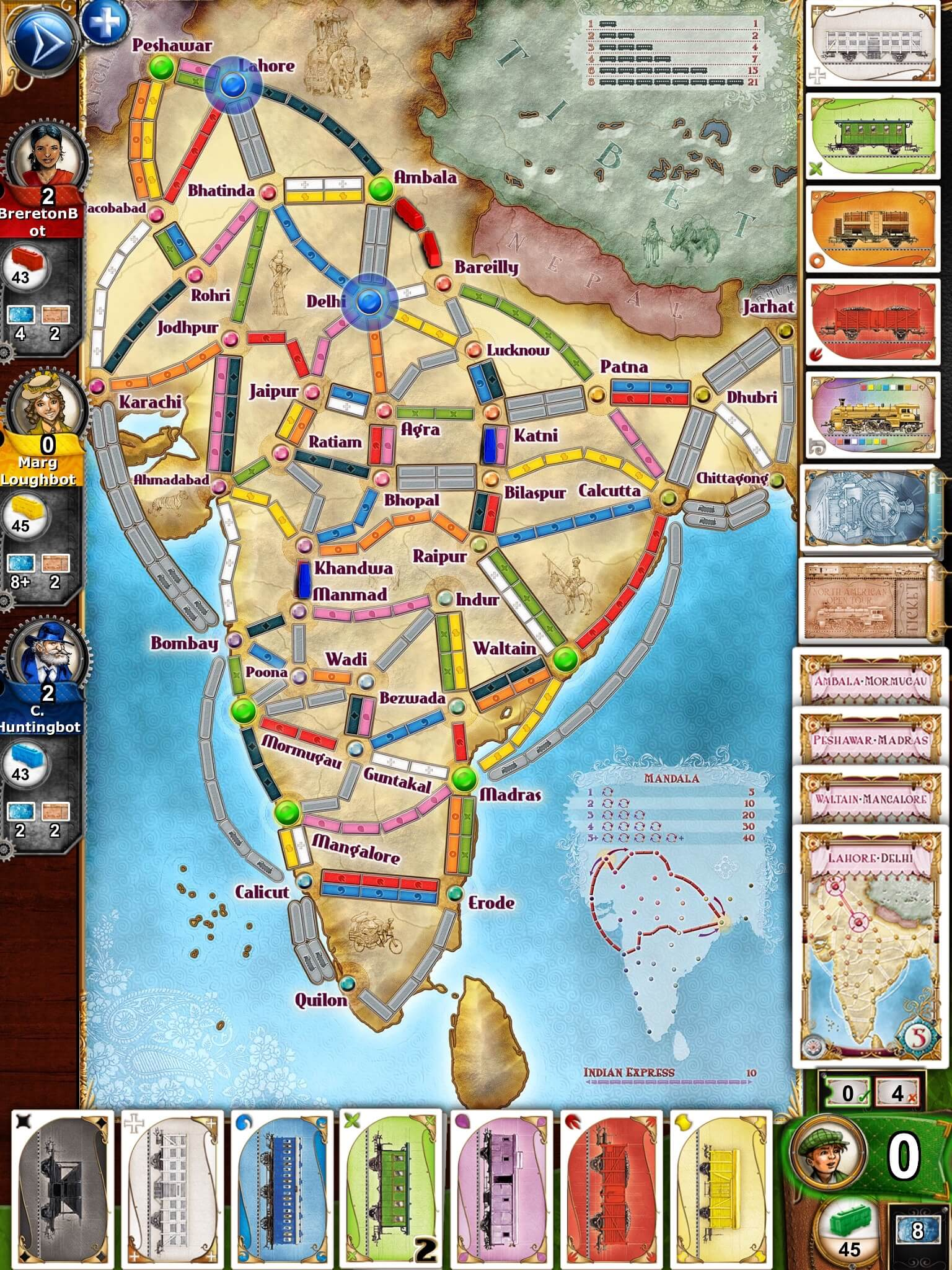 Ticket to Ride iOS Spiel