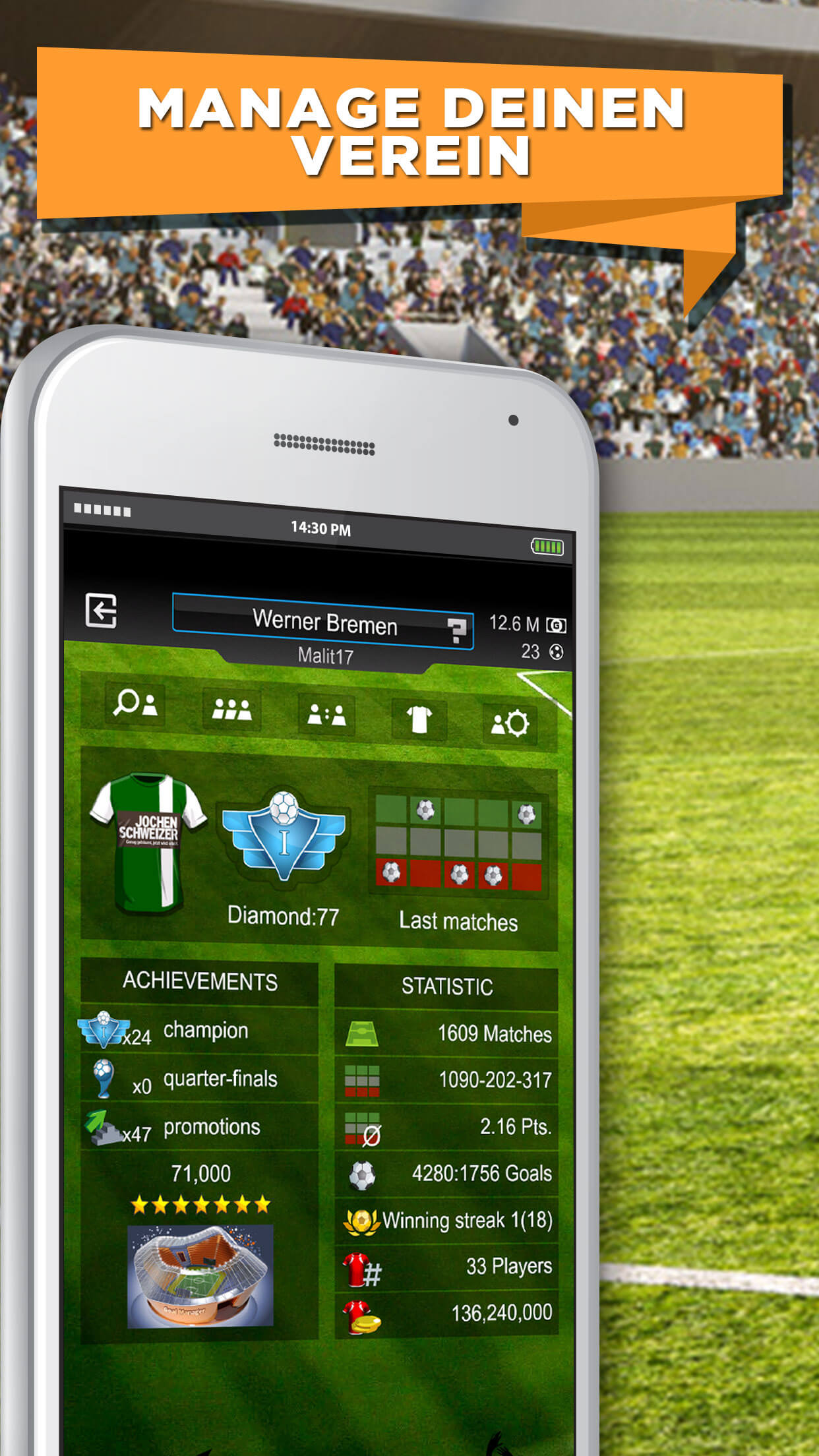 GOAL Fußball Manager 15 iOS