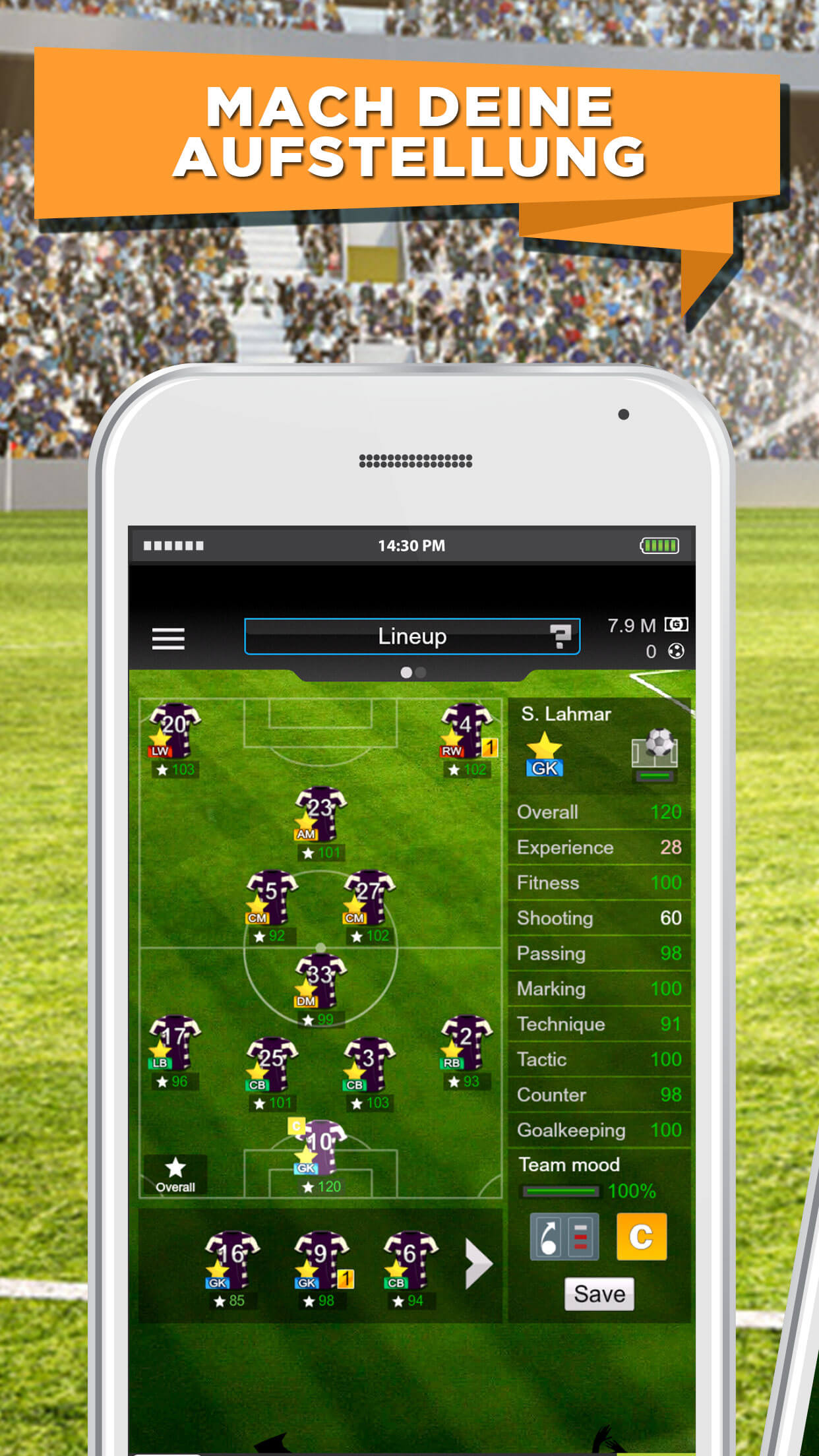GOAL Fußball Manager 15 iPhone iPad