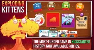 Kickstarter-Kartenspiel "Exploding Kittens" neu für iPhone
