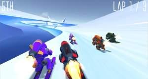 Rocket Ski Racing: rasantes Ski-Rennspiel mit Raketenantrieb
