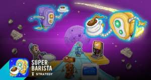 Super Barista: verrücktes Tower Defense als Kaffeeverkäufer im All kostenlos
