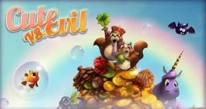 Cute VS Evil: neues Gratis-Puzzle ist ein Mix aus Match-3 und Bubble-Shooter
