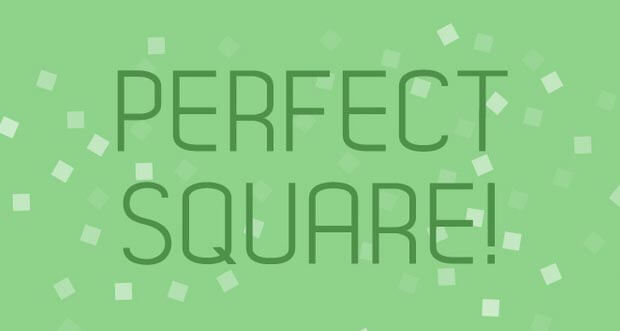 """Perfect Square!"" erfordert Augenmaß"