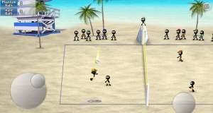 """Beach-Volleyball mit Strichmännchen: """"Stickman Volleyball"""" für lau"""