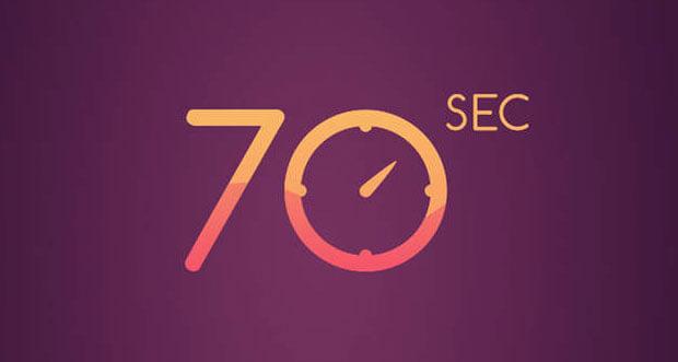 """In """"70 seconds. Concentration. Attention. Speed."""" warten über 25 Minispiele gegen die Zeit"""