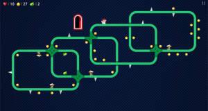"""Kostenloser Puzzle-Plattformer """"dotorio"""": ein Eichhörnchen auf der Suche nach Nüssen"""