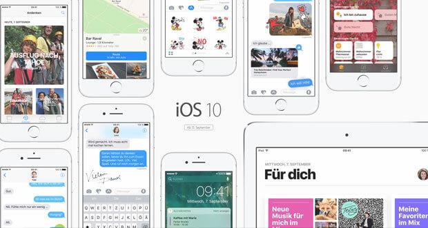 Apple veröffentlicht iOS 10