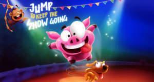 Piggy Show: tierischer Endless-Runner mit One-Touch-Steuerung von Appsolute Games