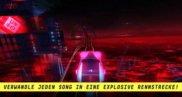 """Musik-Rennspiel """"Riff Racer"""" einen Monat nach Release schon kostenlos"""