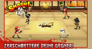 Stickninja Smash: eintönige Ninja-Highscore-Prügelei für flinke Finger
