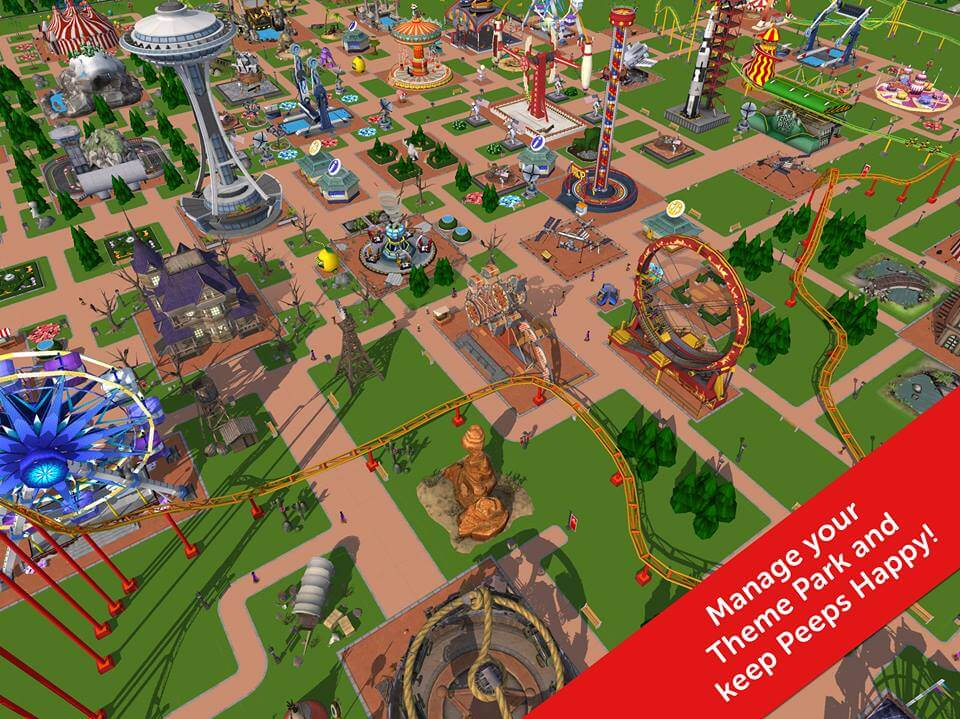 Rollercoaster Tycoon Touch iOS Spiel