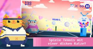 Candy Cat Tennis: Highscore-Tennis zwischen Katze gegen Kaugummiautomaten