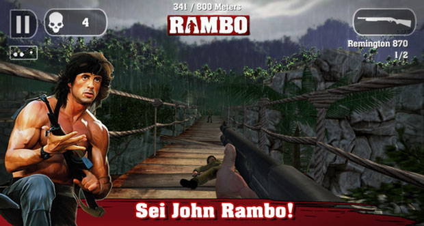 "Action-Game ""Rambo – Das Mobile-Game"" günstig wie nie"