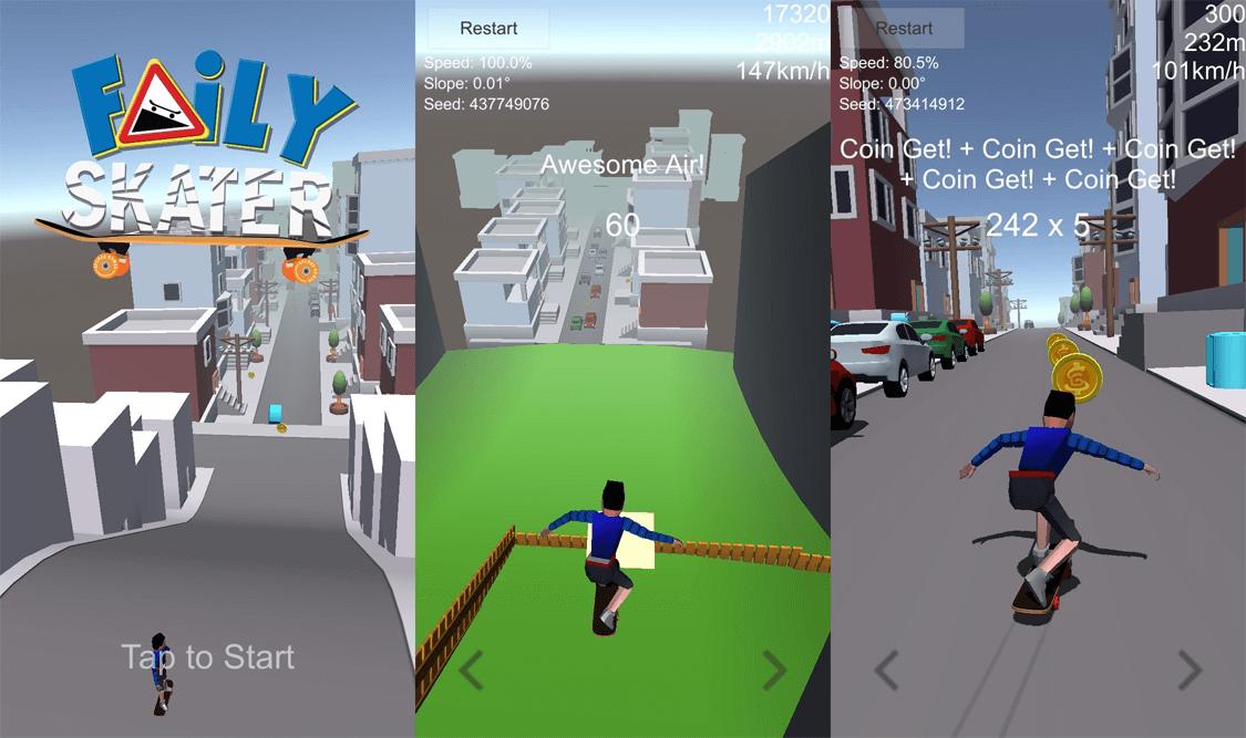 Faily Skater iOS Spiel