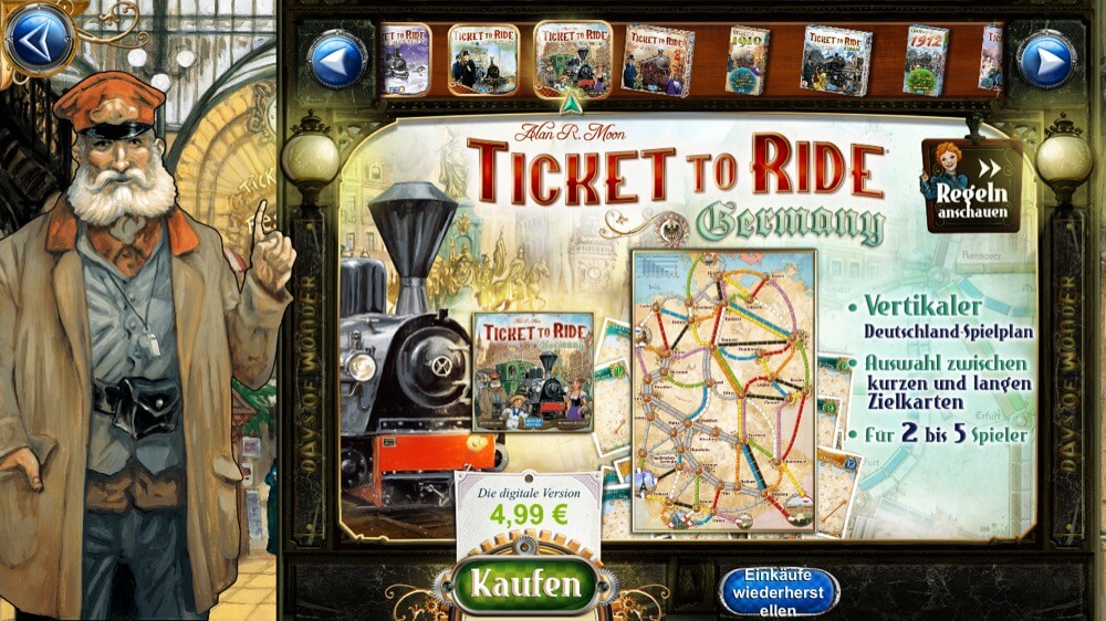 Ticket to Ride Deutschland iOS