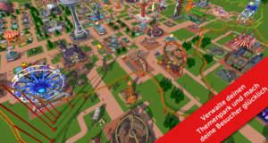 """""""RollerCoaster Tycoon Touch"""" neu für iOS: eigenen F2P-Freizeitpark bauen"""
