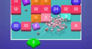 Break 100: Brick-Breaker-Spiel mit Zahlen und Bubble-Shooter-Steuerung
