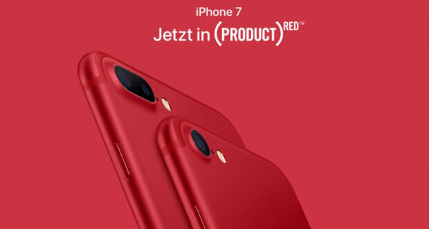 Apple präsentiert knallrotes iPhone 7 Product Red sowie neues iPad