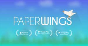 Paper Wings: unterhaltsames Highscore-Geflatter mit einem Origami-Vogel