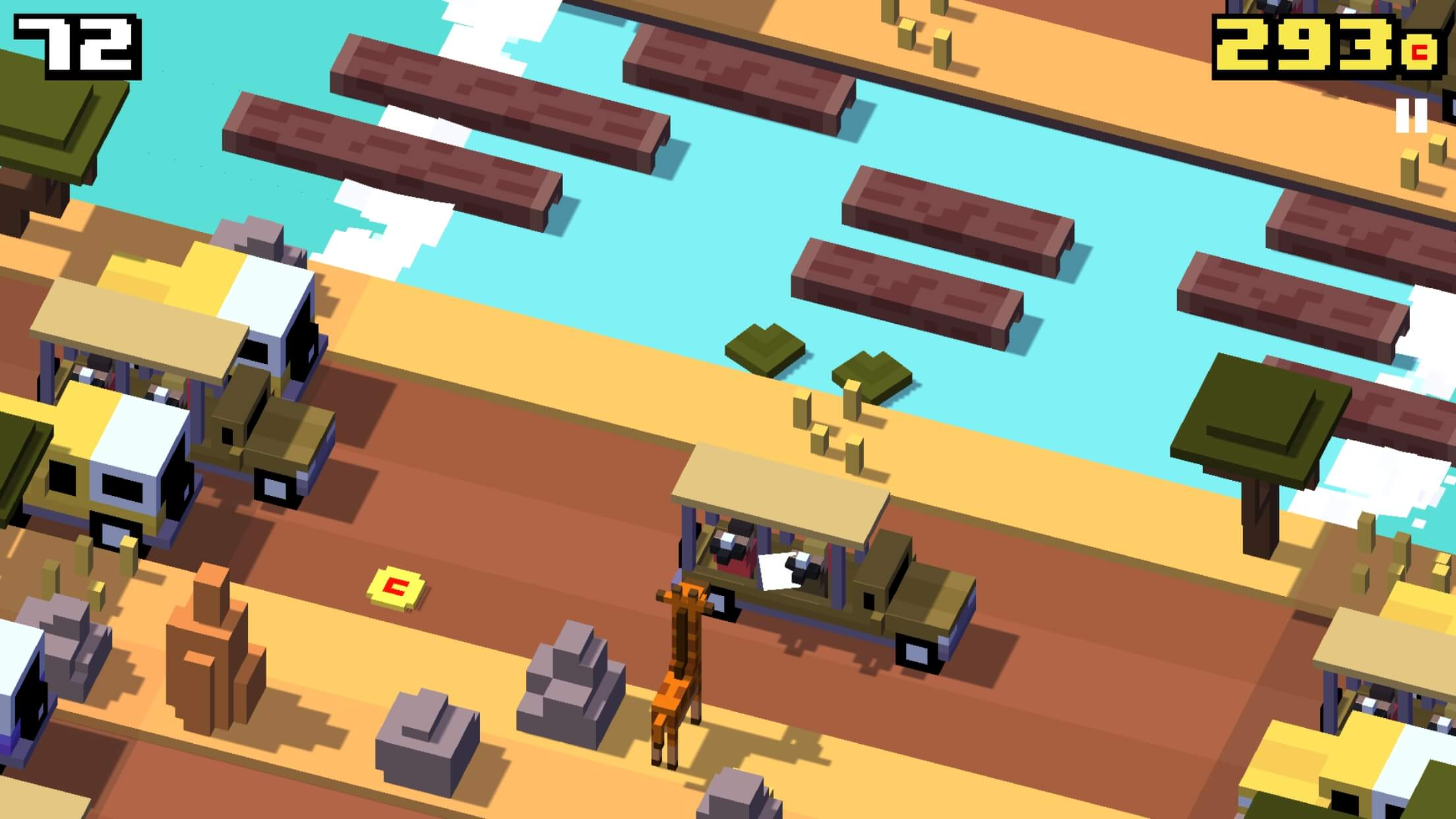 Crossy Road Savanna Update iOS