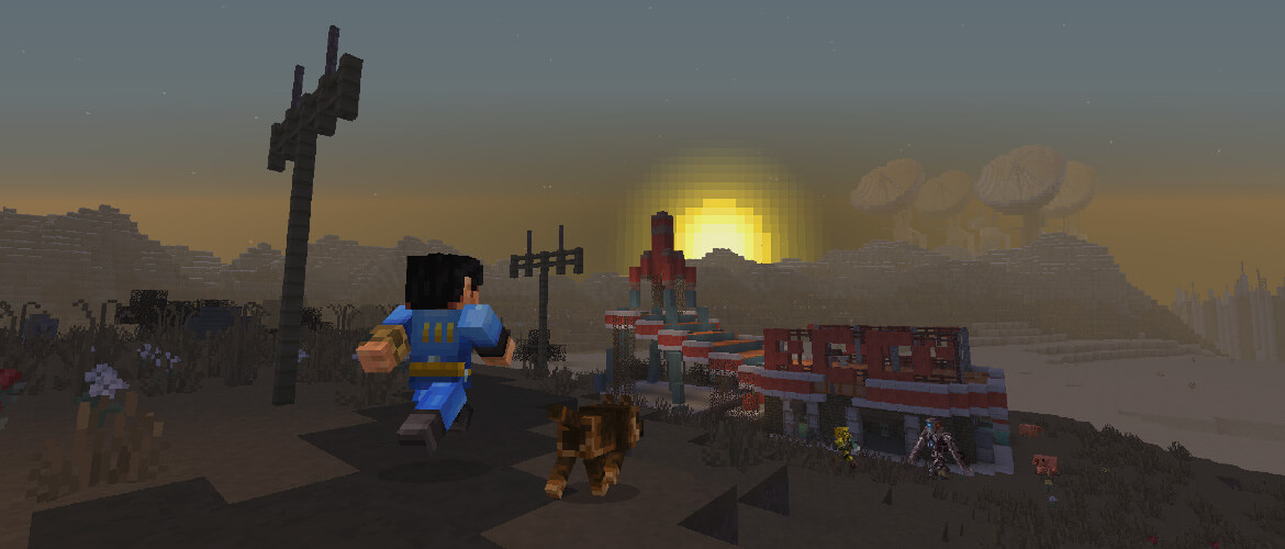 Minecraft: Pocket Edition iOS Fallout Mash-up Pack