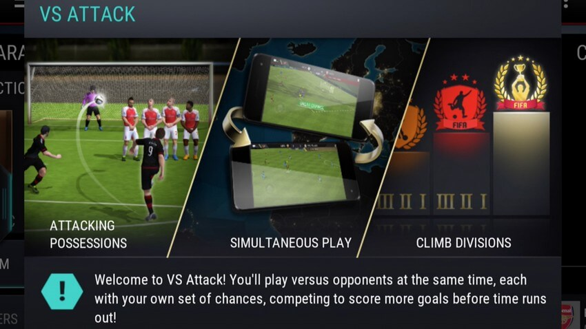 FIFA Mobile Fußball VS-Angriff Update iOS