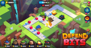 Defend The Bits: neues Tower-Defense-Spiel mit vielen bunten Blöcken