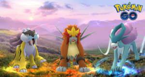 Pokémon GO: die legendären Pokémon Raikou, Entei und Suicune sind erschienen