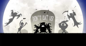 Don't Eat Us: Kinder beschützen und Monster abwehren in finsterem Auto-Runner